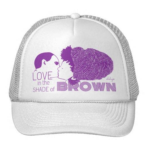 BROWN LOVE in PURPLE Trucker Hat