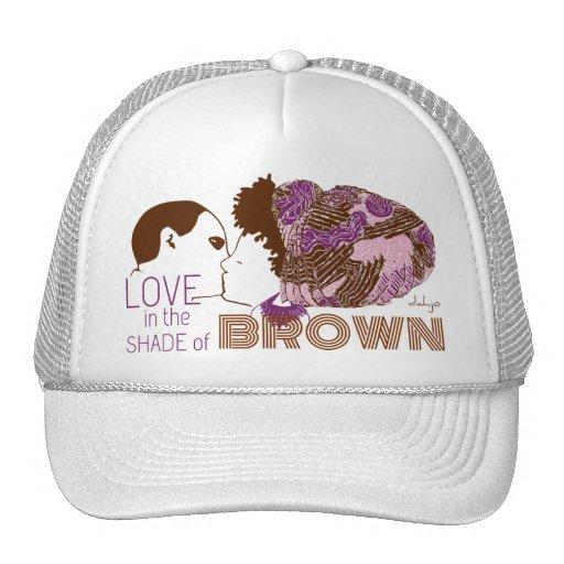 BROWN LOVE in PURPLE & PINK Mesh Hat