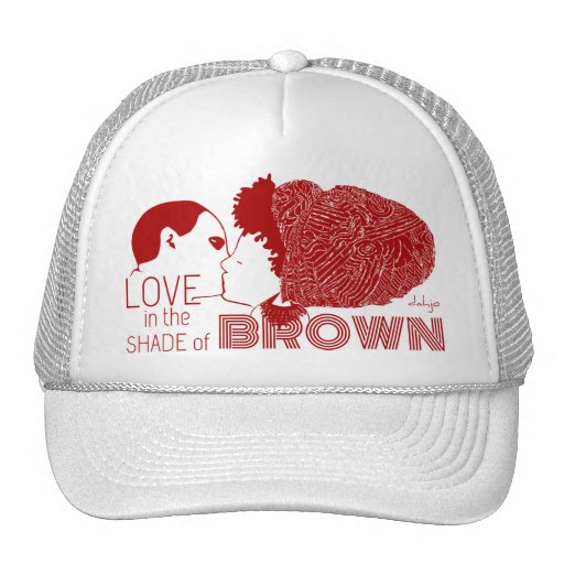 BROWN LOVE in RED Hat