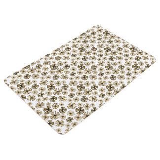 Brown Lucky Shamrock Clover Floor Mat