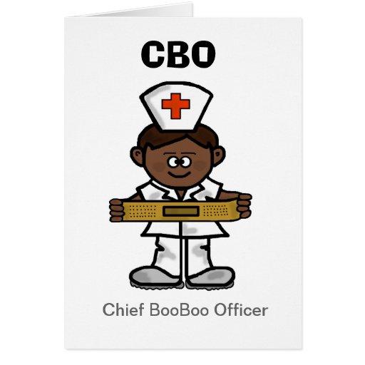 Brown Male Nurse Greeting Card to Customize