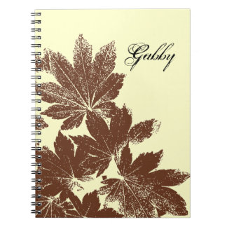 Brown Maple Leaf Stamp Notebooks