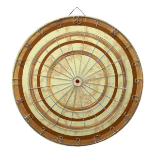 Brown Marble Design Custom Regulation Dart Board