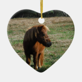 Brown Miniature Horses Christmas Ornament