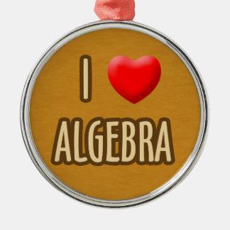 BROWN MODEL - I LOVE ALGEBRA Silver-Colored ROUND DECORATION