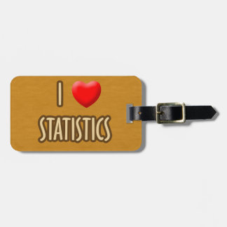 BROWN MODEL - I LOVE STATISTICS LUGGAGE TAG