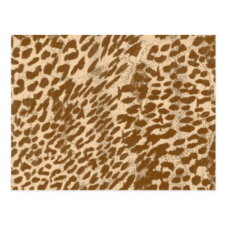 Brown Modern Leopard Print Postcard