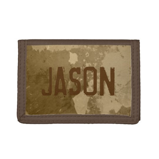 Brown money wallet for men | Distressed look