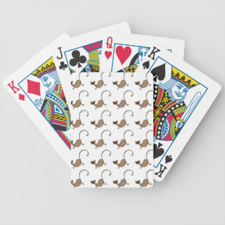 Brown monkey bicycle playing cards