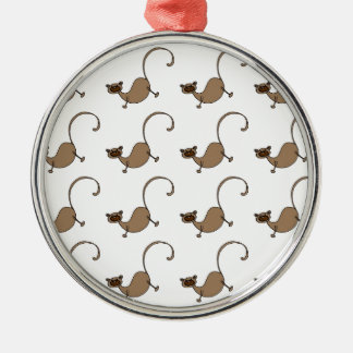 Brown monkey christmas ornament