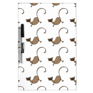 Brown monkey dry erase board