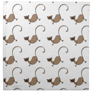 Brown monkey napkin