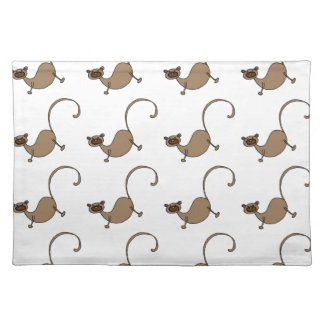 Brown monkey placemat