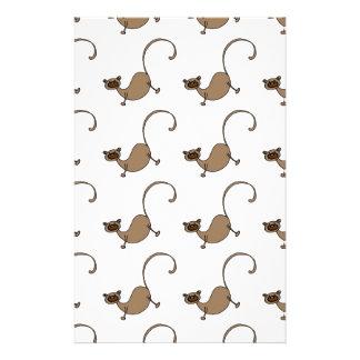 Brown monkey stationery