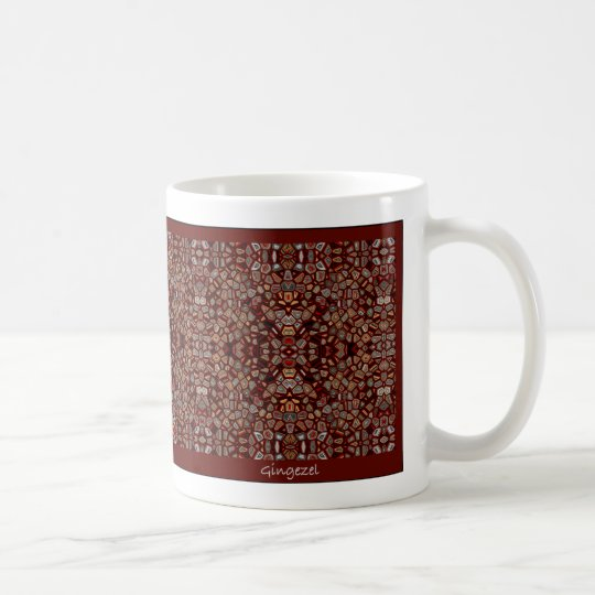 Brown Mosaic Generative Art Mug