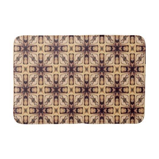 Brown Mosaic Pattern Bath Mats