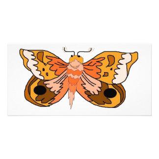 Brown Moth Customized Photo Card