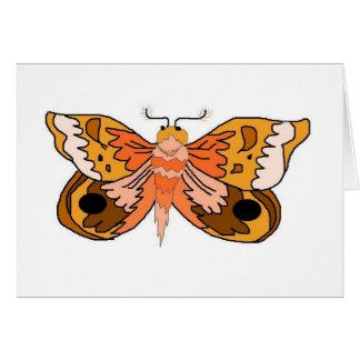 Brown Moth Greeting Cards