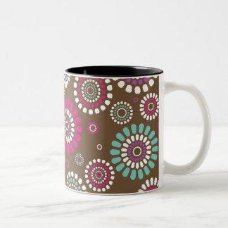 Brown mug With Flowery Subject