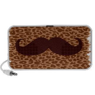 Brown Mustache Travelling Speakers