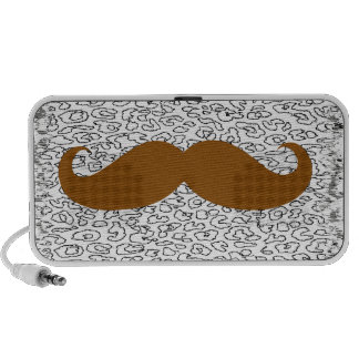 Brown Mustache Speakers