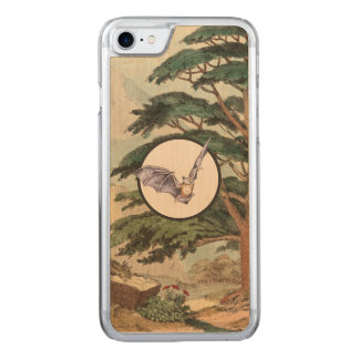 Brown Myotis Bat Natural Habitat Illustration Carved iPhone 8/7 Case