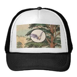 Brown Myotis Bat Natural Habitat Illustration Hats