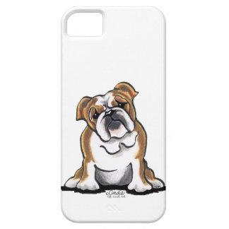 Brown n White English Bulldog Sit Pretty iPhone 5 Cover