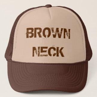 BROWN NECK TRUCKER HAT