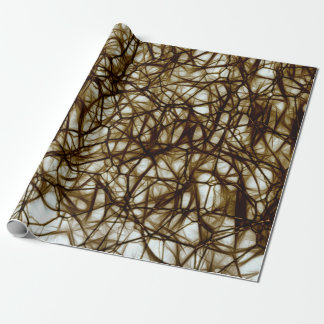 Brown Neurons Medical Cell Style Wrapping Paper