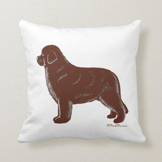 Brown Newfoundland Dog Pillow