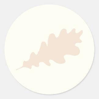 Brown Oak Leaf Design. Classic Round Sticker