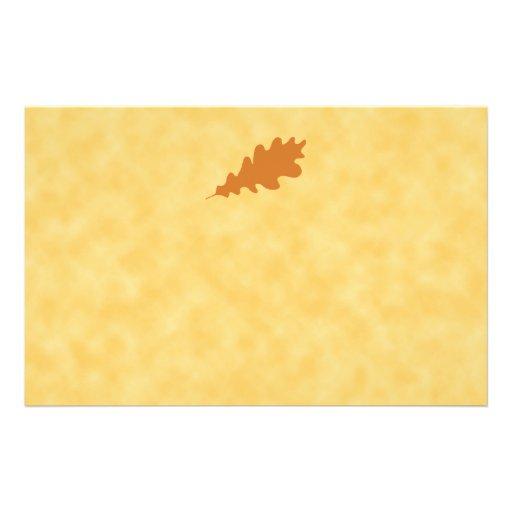 Brown Oak Leaf Design. Flyers