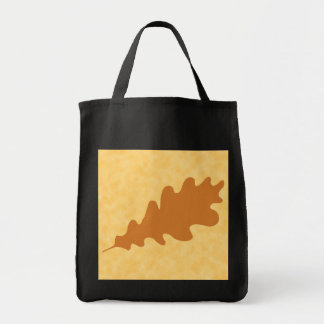 Brown Oak Leaf Design. Tote Bag