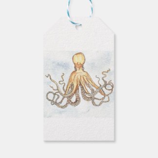 Brown Octopus Gift Tags