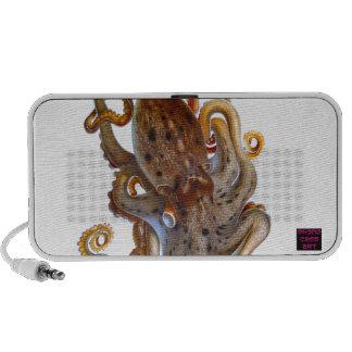 Brown Octopus Picture Mp3 Speaker