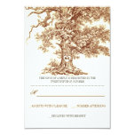 brown old tree rustic wedding RSVP cards 9 Cm X 13 Cm Invitation Card