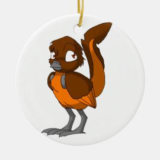 Brown/Orange Reptilian Bird Ornament