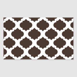 Brown Ornate Pattern Stickers