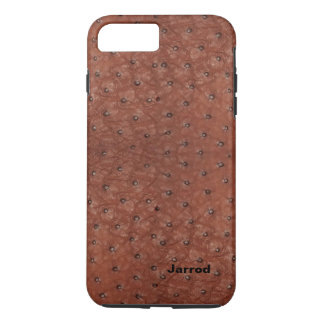 Brown Ostrich Leather Look iPhone 7 Plus Case