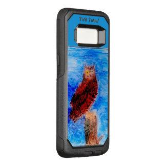 Brown Owl Art OtterBox Commuter Samsung Galaxy S8 Case