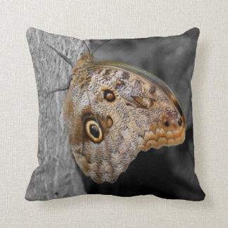 Brown Owl Butterfly Nature American MoJo Pillow Throw Cushions