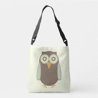 Brown Owl Crossbody Bag