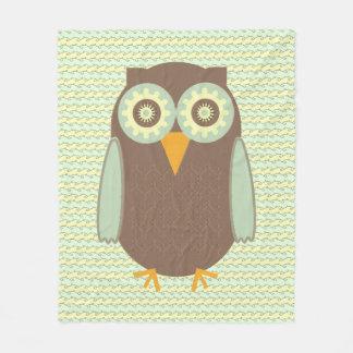 Brown Owl Fleece Blanket