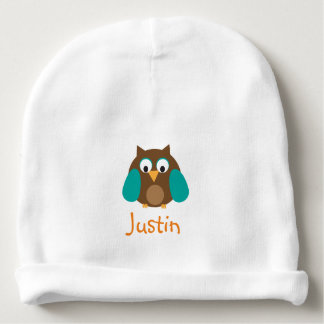 Brown Owl Personalized Hat Baby Beanie