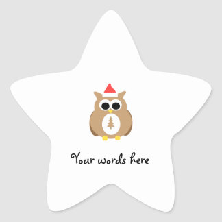 Brown owl santa star stickers