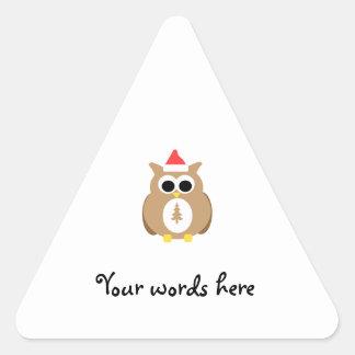 Brown owl santa stickers