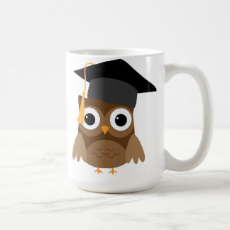 Brown Owl with Graduation Cap Graduation Mug