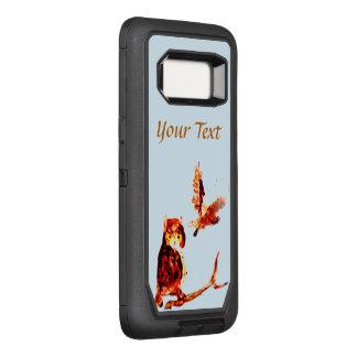 Brown Owls Bird Art OtterBox Defender Samsung Galaxy S8 Case
