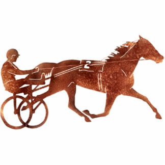 Brown Pacer Silhouette Standing Photo Sculpture
